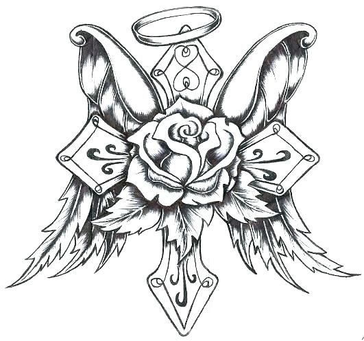 531x497 Heart With Wings Coloring Pages Hearts With Wings Coloring Pages