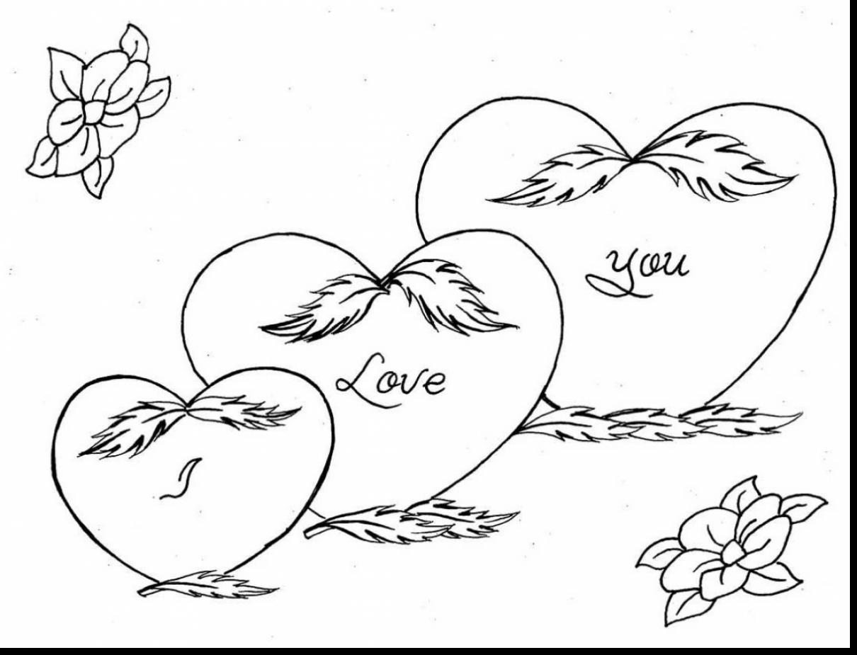 1210x925 Beautiful Love You Heart Coloring Pages With I