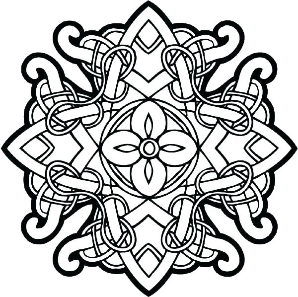 600x598 Celtic Coloring Pages Coloring Mandala Pages More For Adults Knot