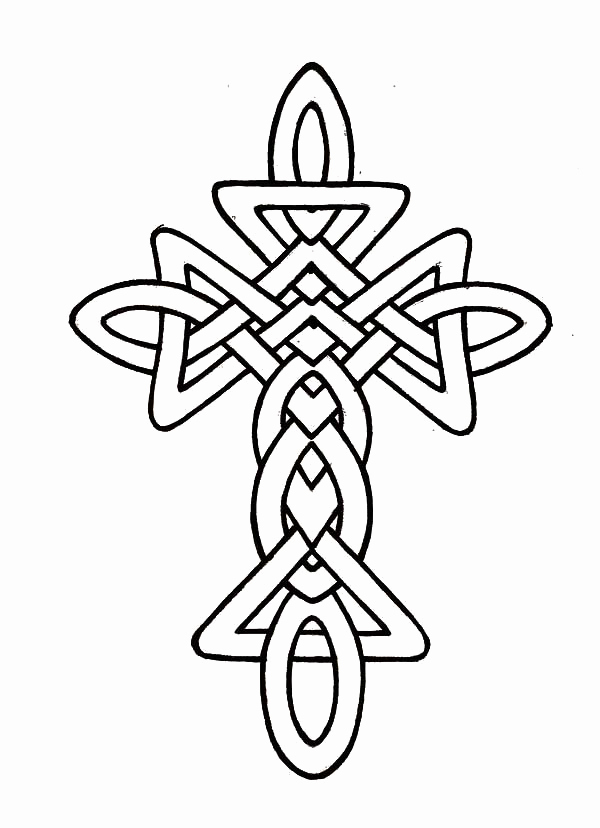 600x828 Celtic Coloring Pages Leversetdujourfo Cross And Heart Coloring