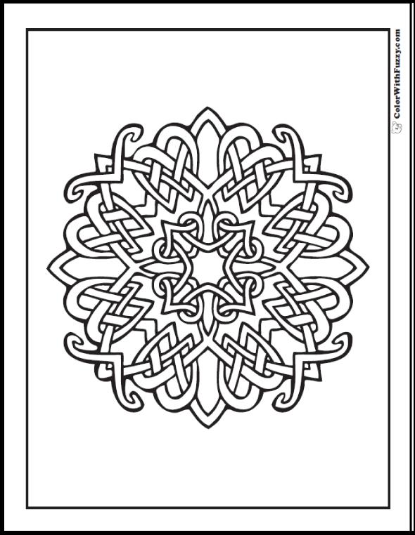 590x762 Celtic Design Cross Small Cross On Large