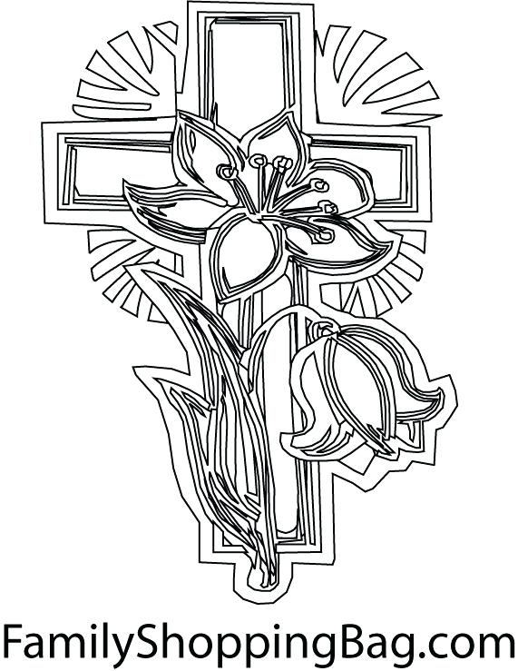 571x739 Cross Coloring Pictures Coloring Pages Crosses Jesus Died