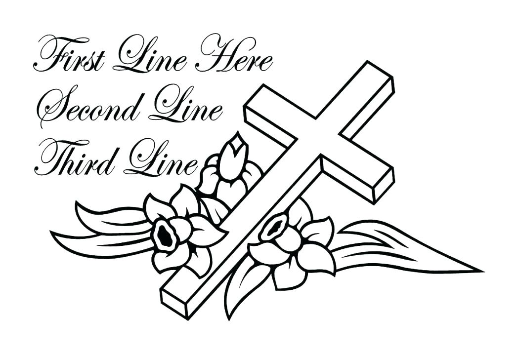 1048x717 Free Printable Cross Coloring Pages Free Printable Cross Coloring