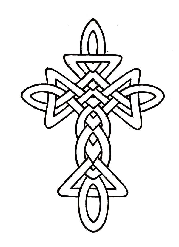600x828 Morphed Celtic Cross Coloring Pages Best Place To Color