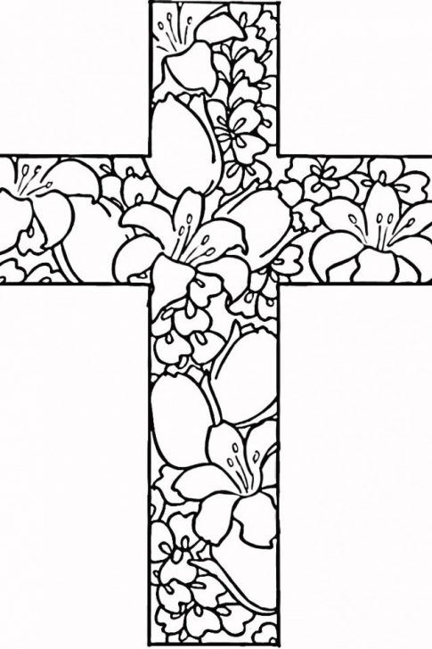 485x728 Printable Cross Coloring Pages Cross Coloring Page