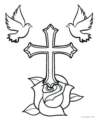 Cross Coloring Pages at GetDrawings.com | Free for personal ...