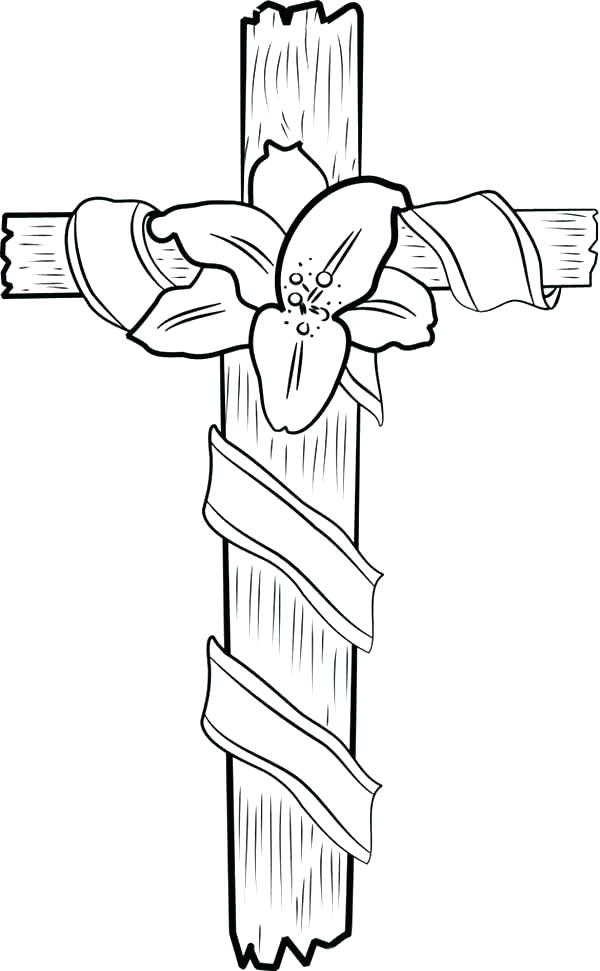 600x971 Cross Coloring Pages An Emblem Of Identity Cross Coloring Pages