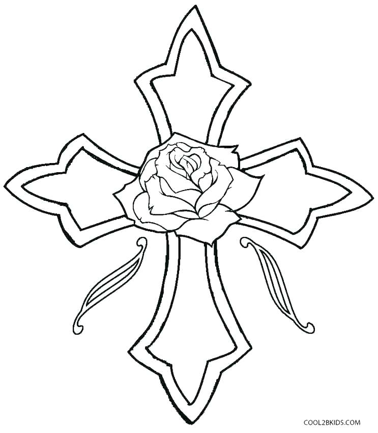 743x850 Cross Coloring Pages Cross Coloring Page Printable Coloring Cross