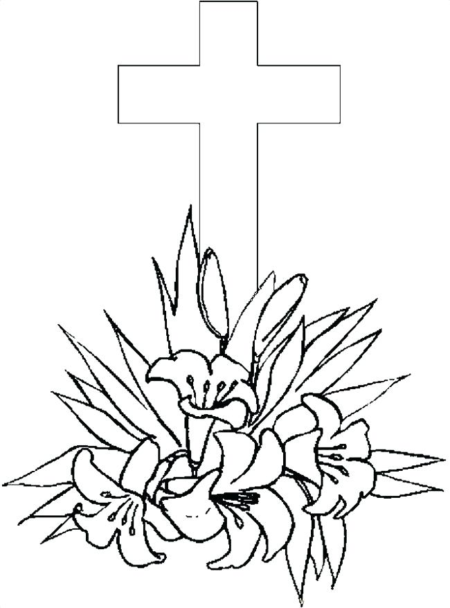 650x878 Cross Coloring Pages Printable Printable Cross Coloring Page