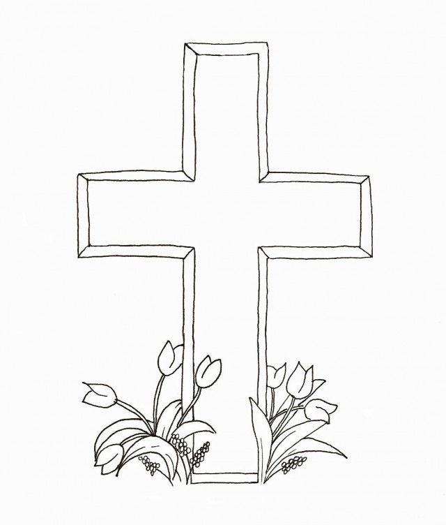 640x752 Crosses To Color Printable Pictures Of Crosses Many Interesting