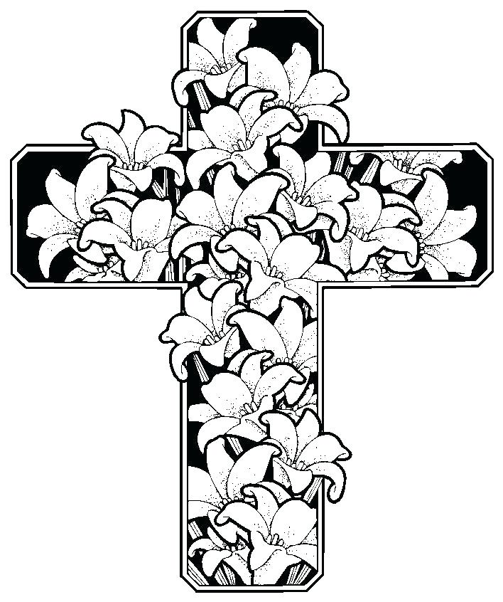 708x846 Coloring Pages Crosses Coloring Pages Crosses For Coloring Sheets