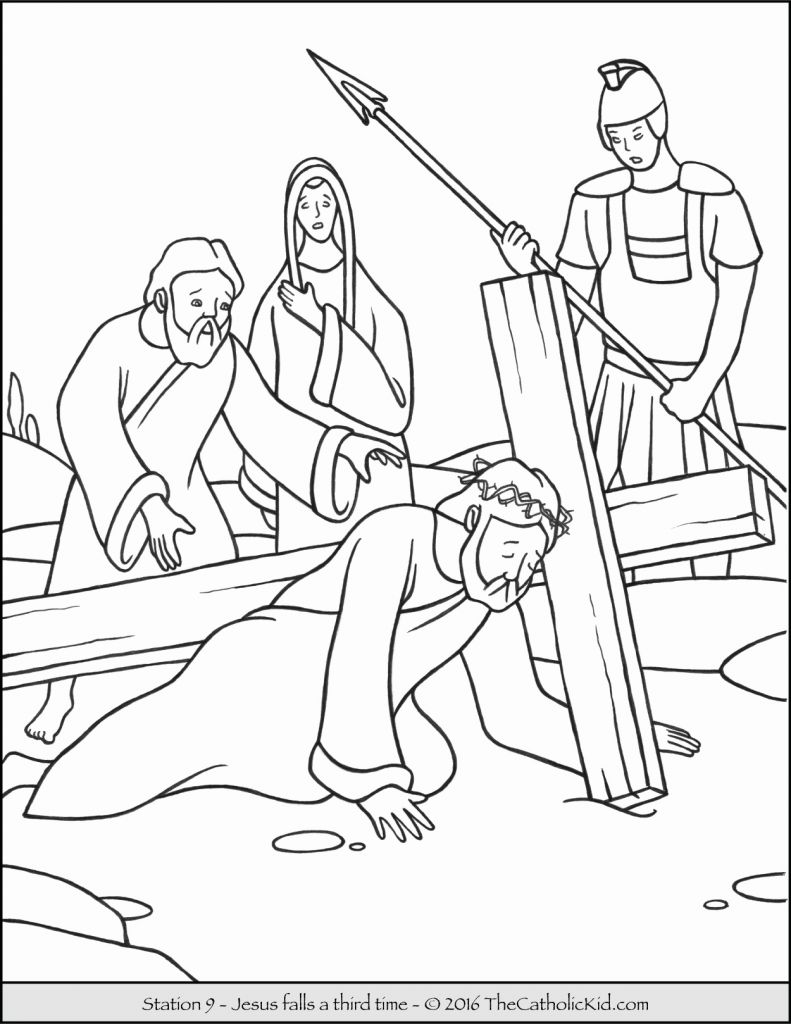 Cross Coloring Pages For Preschoolers