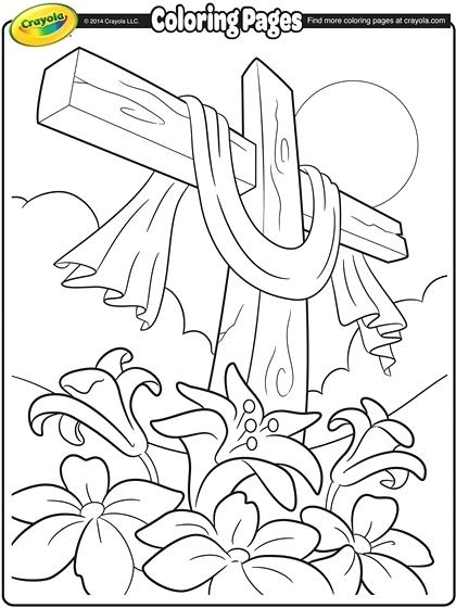 420x560 Cross Coloring Pages Cross Coloring Page Easter Cross Coloring