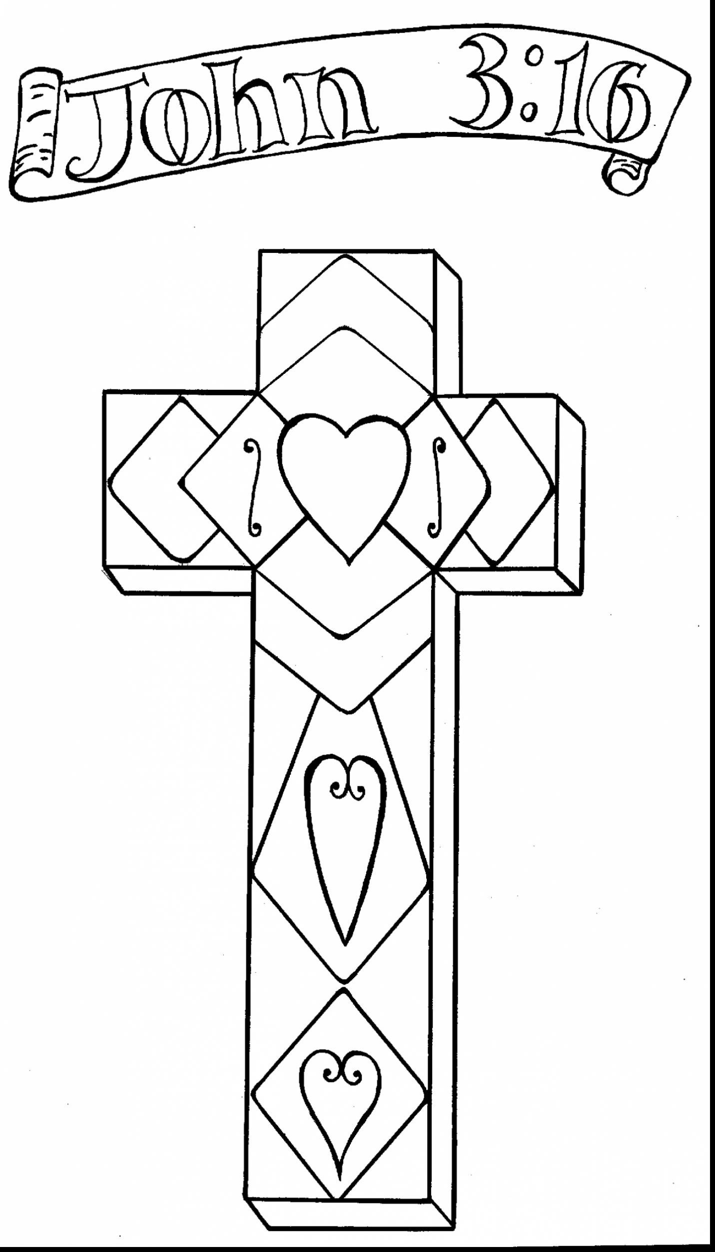 1431x2505 Cross Coloring Pages For Preschoolers Free Printable Kids