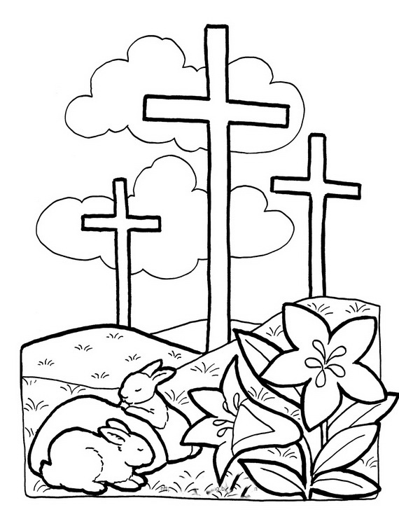 570x741 Cross Coloring Pages For Preschoolers New Best Of Easter Page