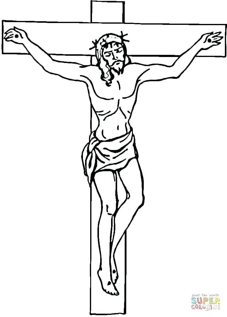 750x1046 Cross Coloring Sheets On The Cross Coloring Page Free Printable