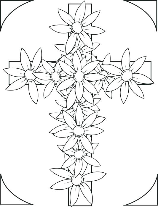 533x700 Free Printable Cross Coloring Pages Coloring Pages Crosses