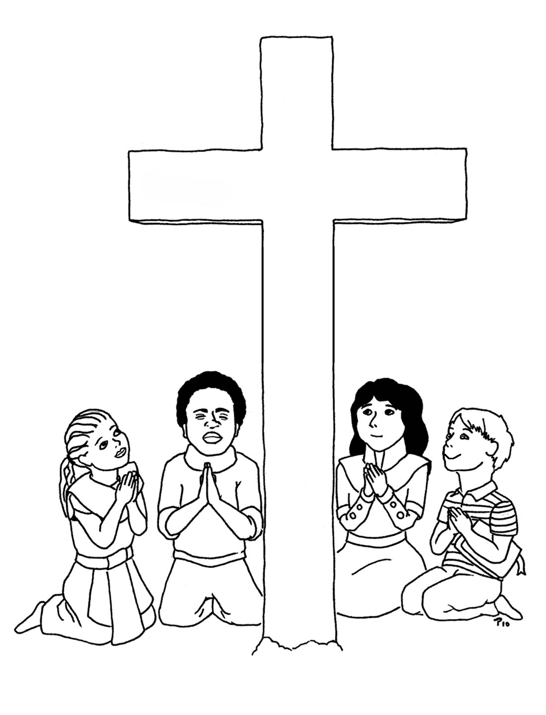 1100x1440 Free Printable Cross Coloring Pages For Kids