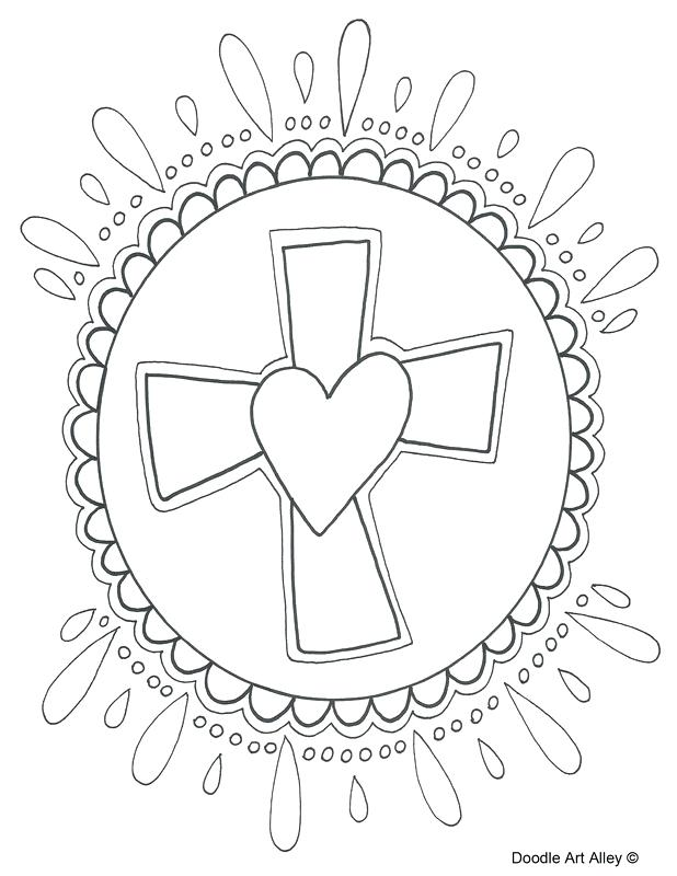 618x800 Ideas Easter Coloring Pages Religious For Cross Coloring Page