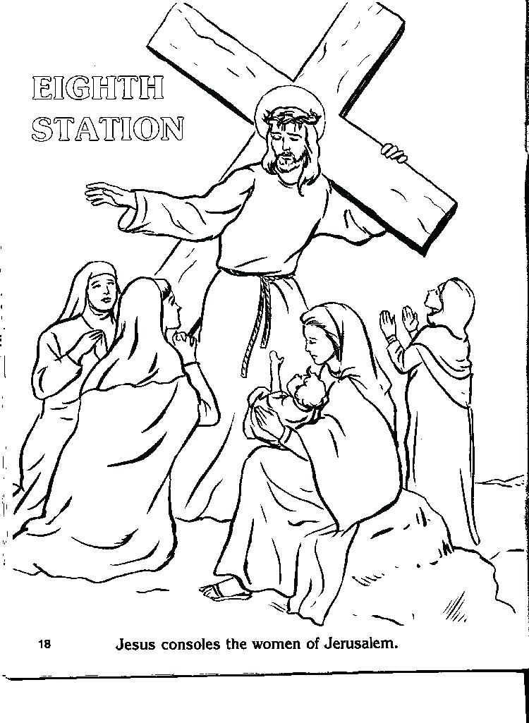 750x1025 Stations Cross Coloring Pages Catholic Stations