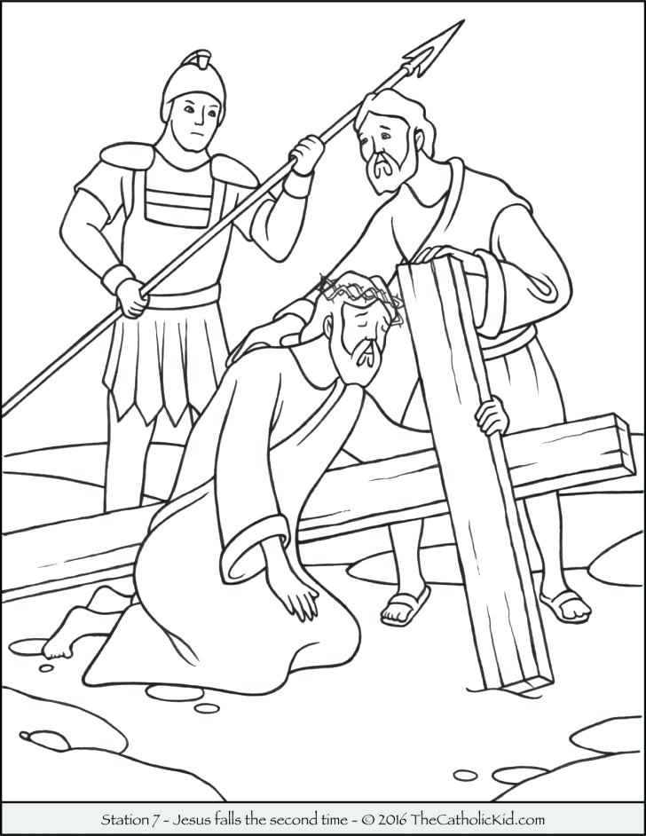 728x942 Stations The Cross Coloring Pages Medium Size Stations
