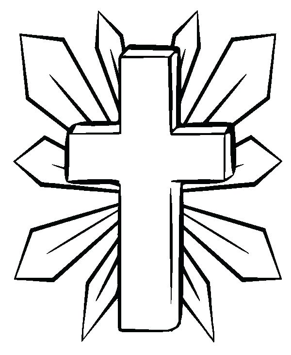 600x731 Cross Coloring Page Free Printable Cross Coloring Pages Cross