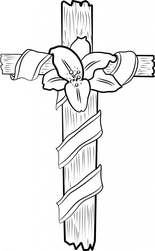 633x1024 Jesus On The Cross Coloring Pages Printable Free Coloring Pages