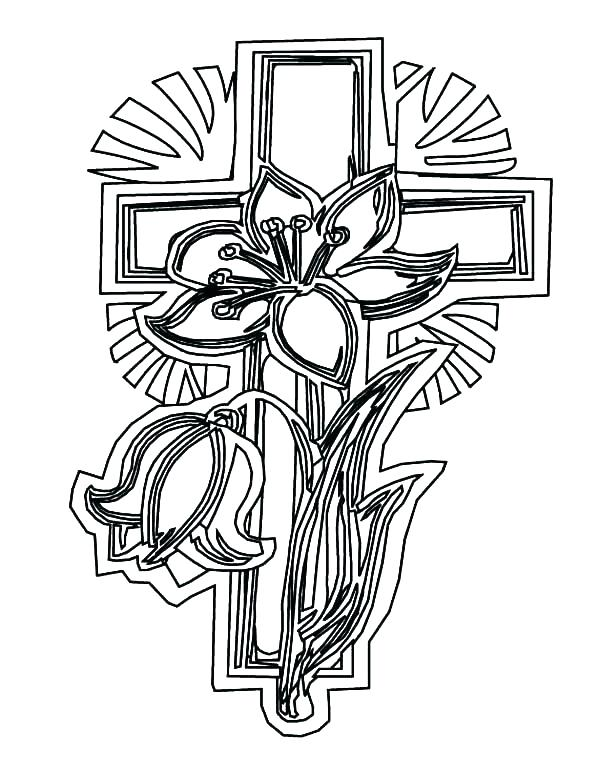 600x777 Cross Coloring Pages Printable Cross Coloring Pages Cross Color