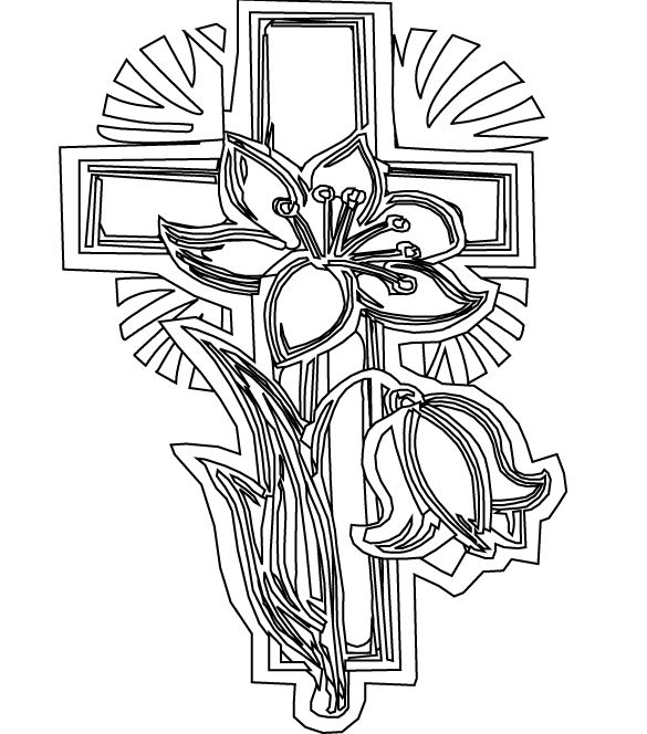 585x664 Cross Coloring Pages To Print Strong Cross Coloring Pages To Print