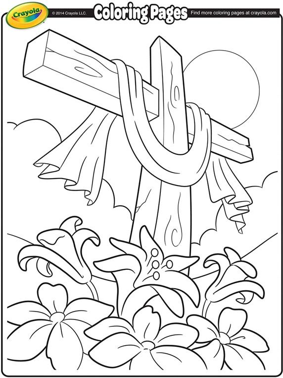 572x762 Easter Cross Coloring Pages Printable For Cure Page Print
