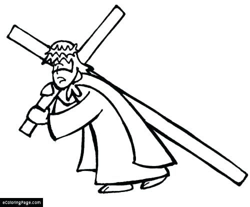 500x414 Free Printable Cross Coloring Pages Cross Color Pages Cross