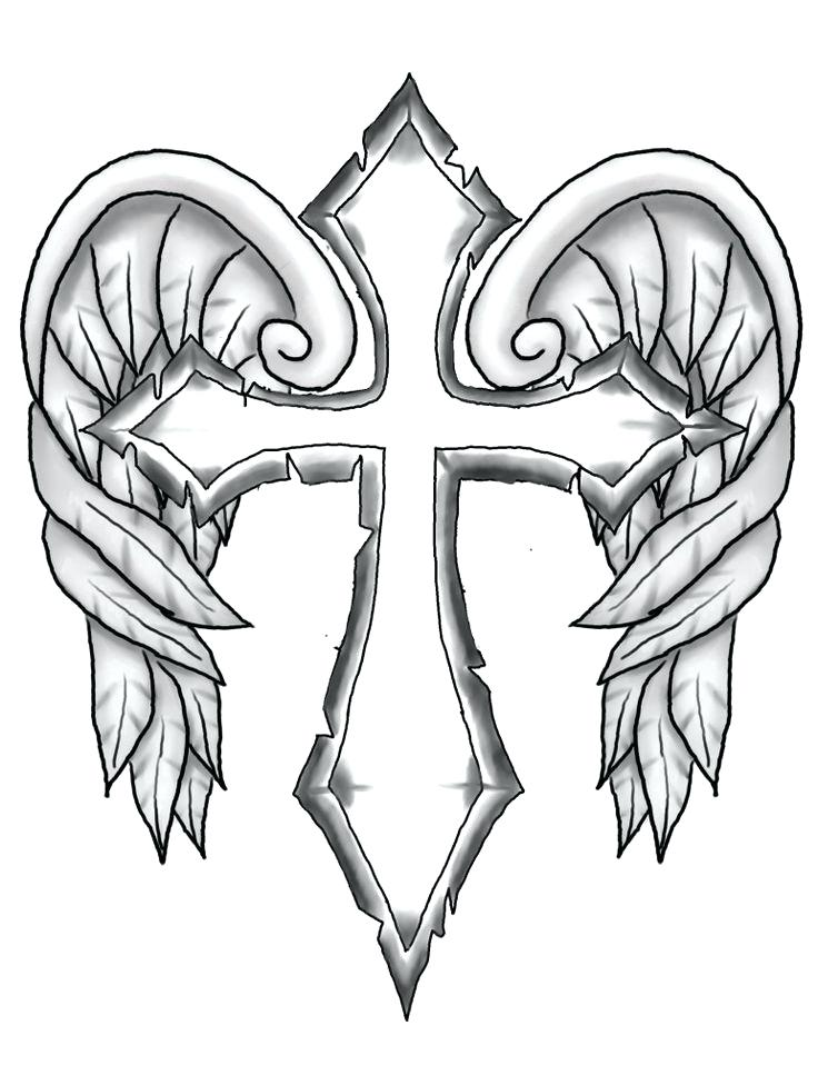 736x976 Free Printable Cross Coloring Pages Drawn Cross Coloring Page