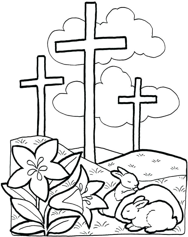 618x777 Jesus On The Cross Coloring Pages Cross Coloring Pages Printable
