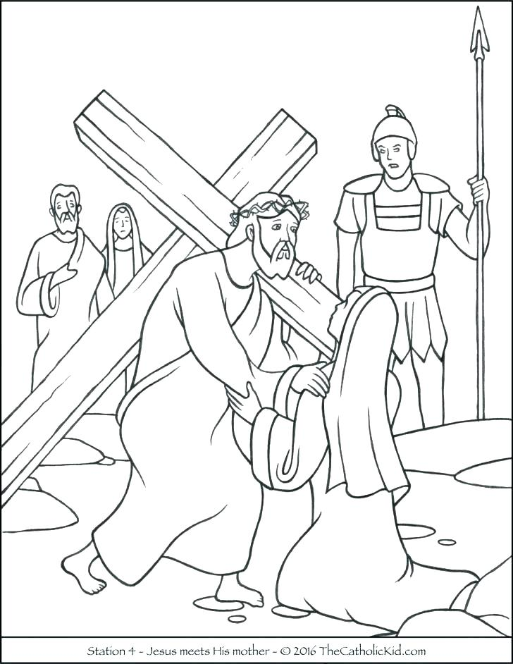 728x942 Stations Of The Cross Printable Printable Cross Coloring Pages