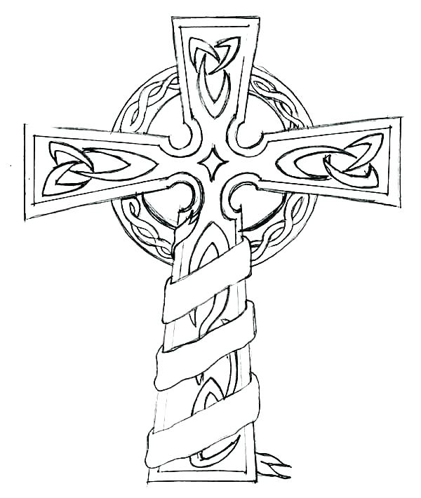 600x710 Coloring Pages Crosses