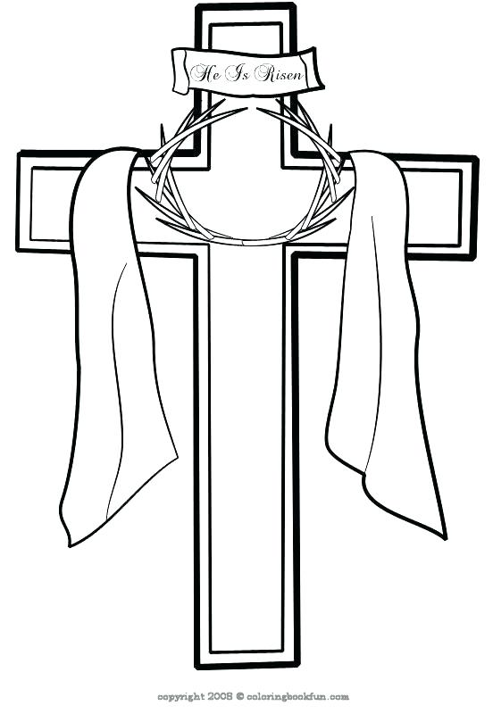 552x800 Cross Coloring Pages To Print Cross Coloring Pages Printable Cross