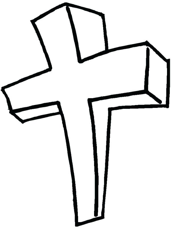 600x800 Cross Coloring Pages To Print Free Printable Cross Coloring Pages