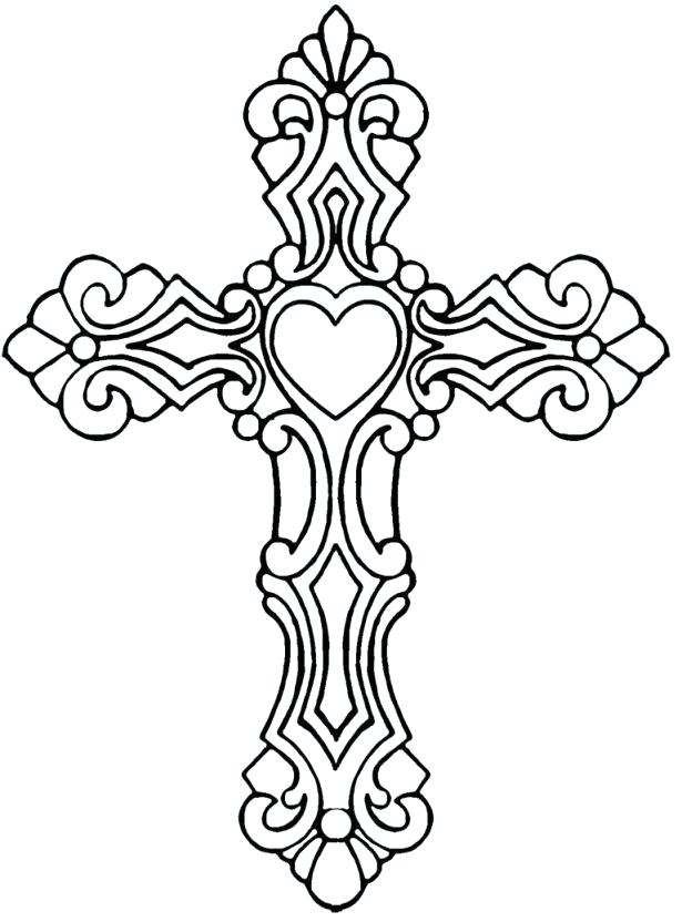 615x832 Printable Cross Colorin Stunning Cross Coloring Pages Printable