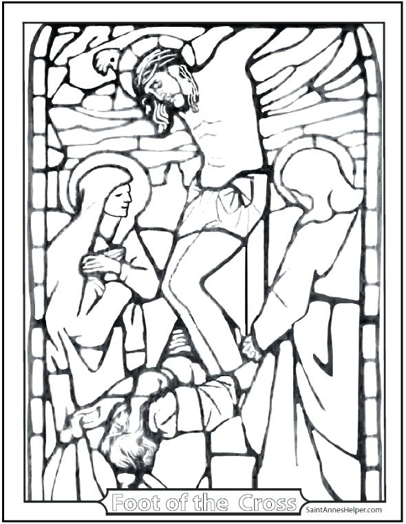 590x762 Cross Coloring Pages To Print
