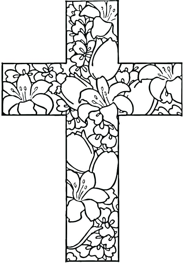 600x862 Coloring Page Cross Cross Outline Coloring Page Cross Coloring