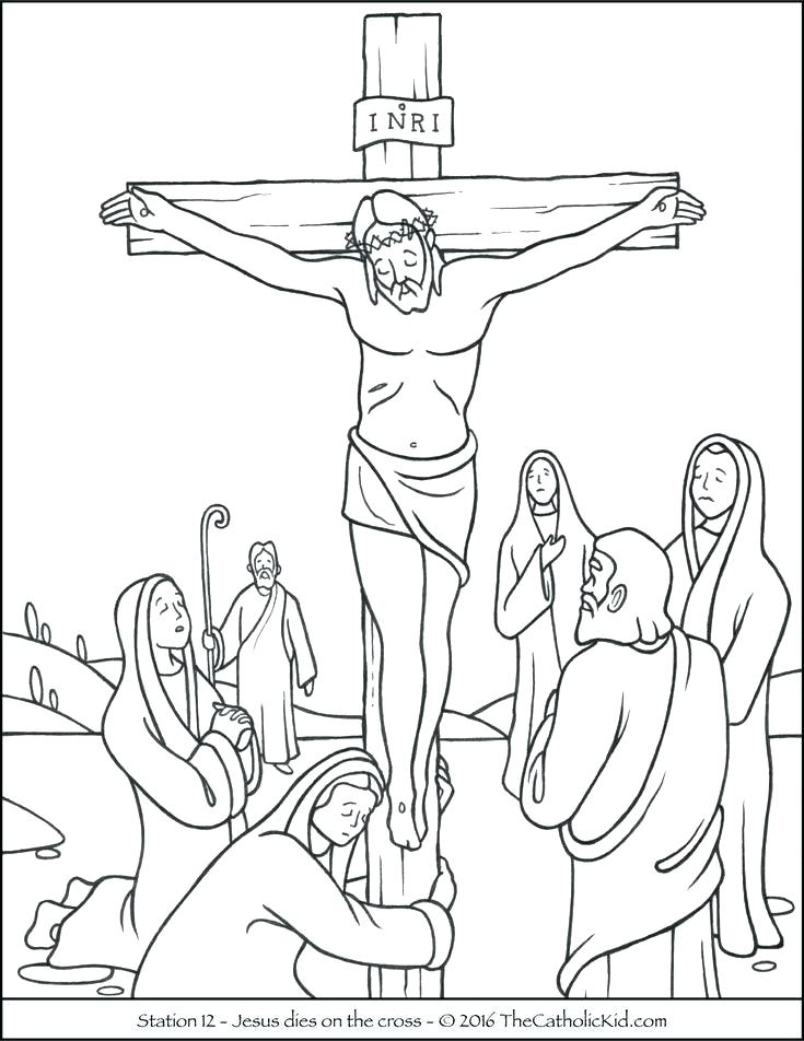 735x952 Cross Coloring Pages Cross Coloring Pages Free Printable Easter