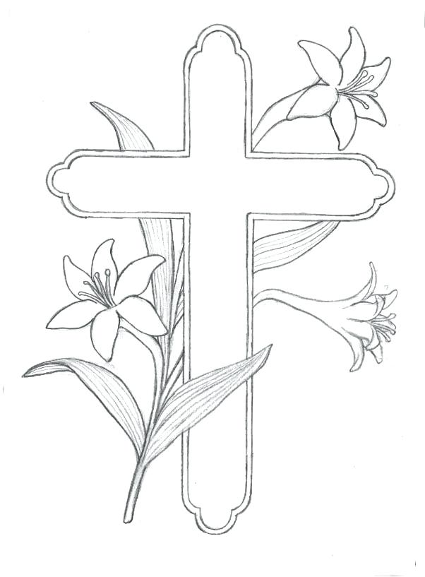 602x817 Cross Coloring Pages Drawn Cross Coloring Sheet Cross Country