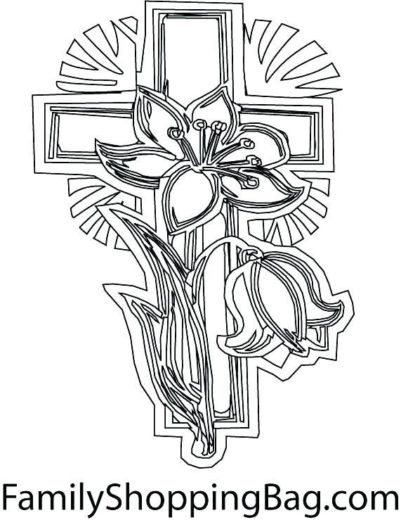 571x739 Free Printable Cross With Wings Coloring Pages Page Color Share