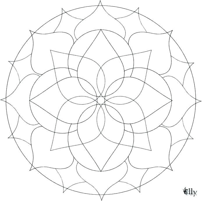 694x693 Celtic Mandalas To Color Celtic Cross Mandala Coloring Pages