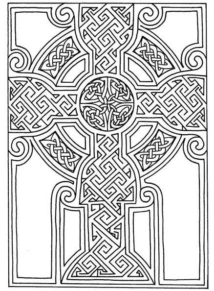 438x594 Celtic Art Free Printable Celtic Cross Patterns Zentangle
