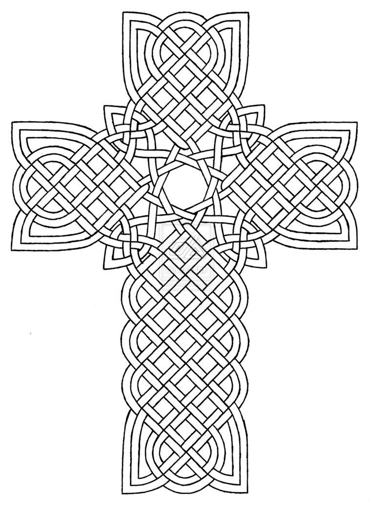 764x1046 Coloring Pages Crosses Designs Celtic Cross Design