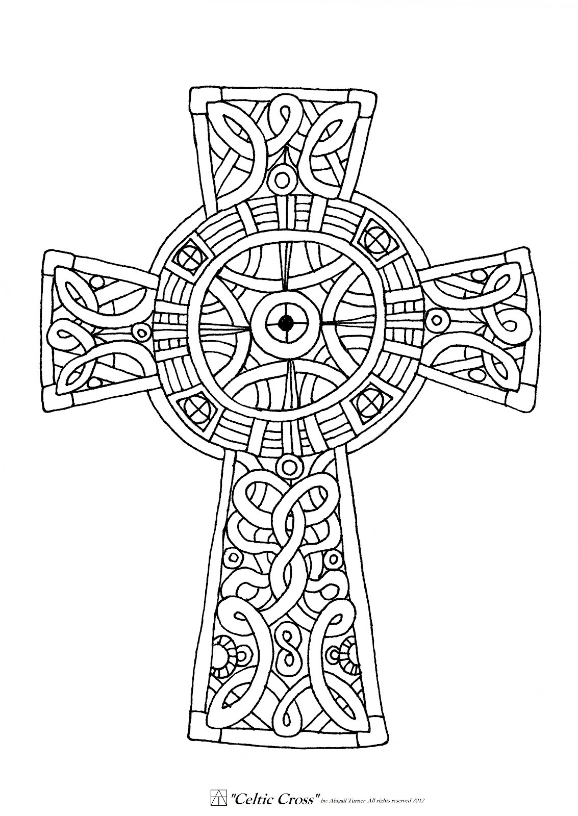 1133x1600 Free Printable Celtic Cross Coloring Pages Coloring Pages