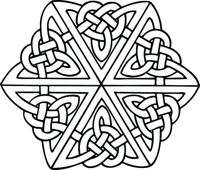 650x555 Celtic Mandala Coloring Pages