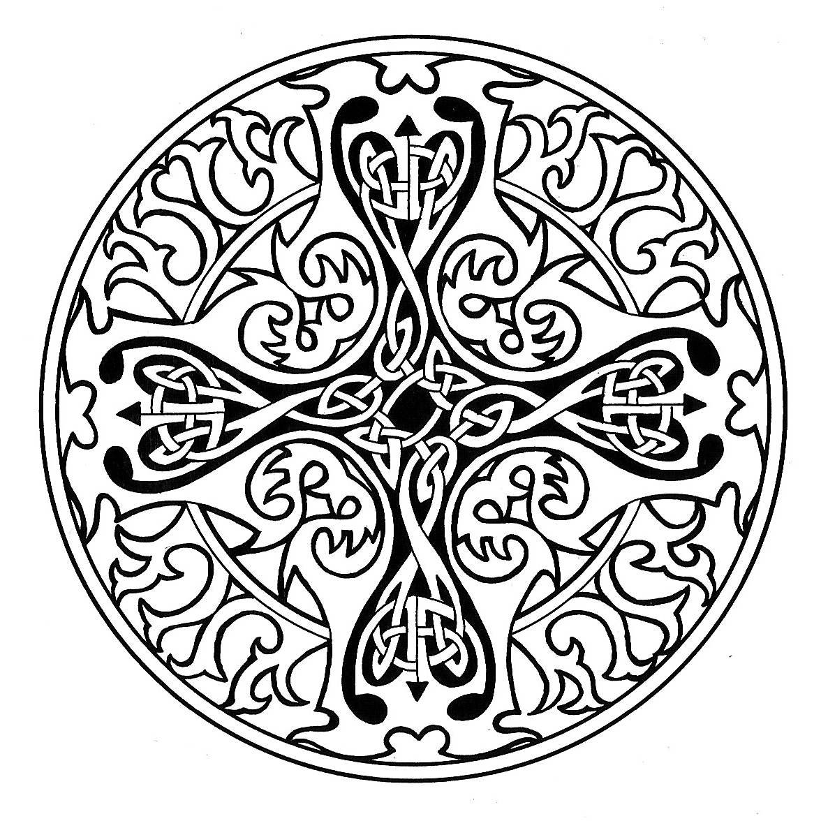 1176x1176 Celtic Cross Coloring Pages