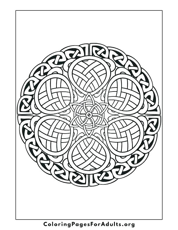 612x792 Celtic Cross Mandala Coloring Pages Color Free Colouring